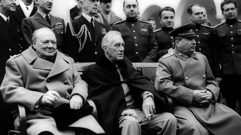 Winston Churchill, Franklin D. Roosevelt & Joseph Stali