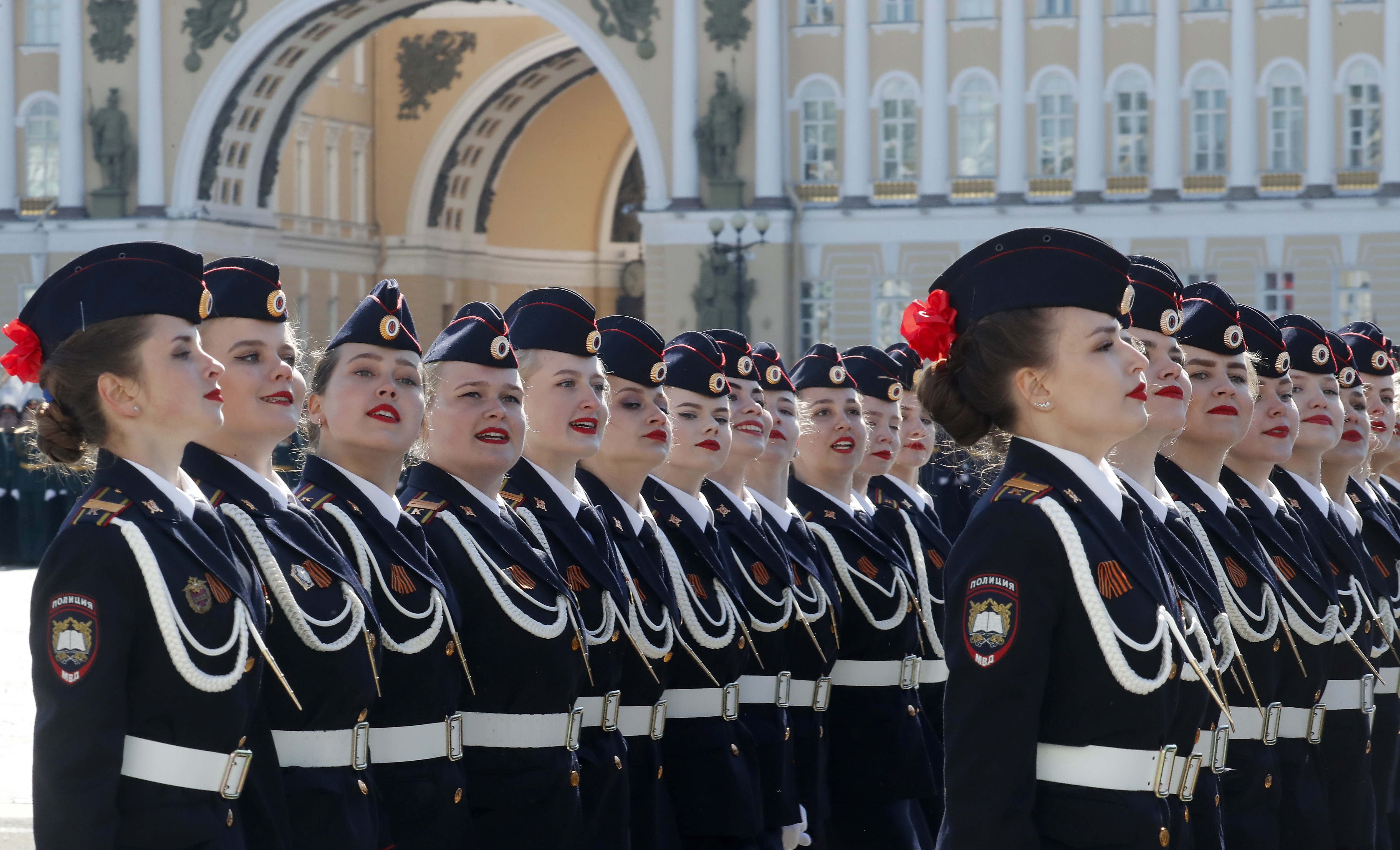 Victory Day military parade in St. Petersburg