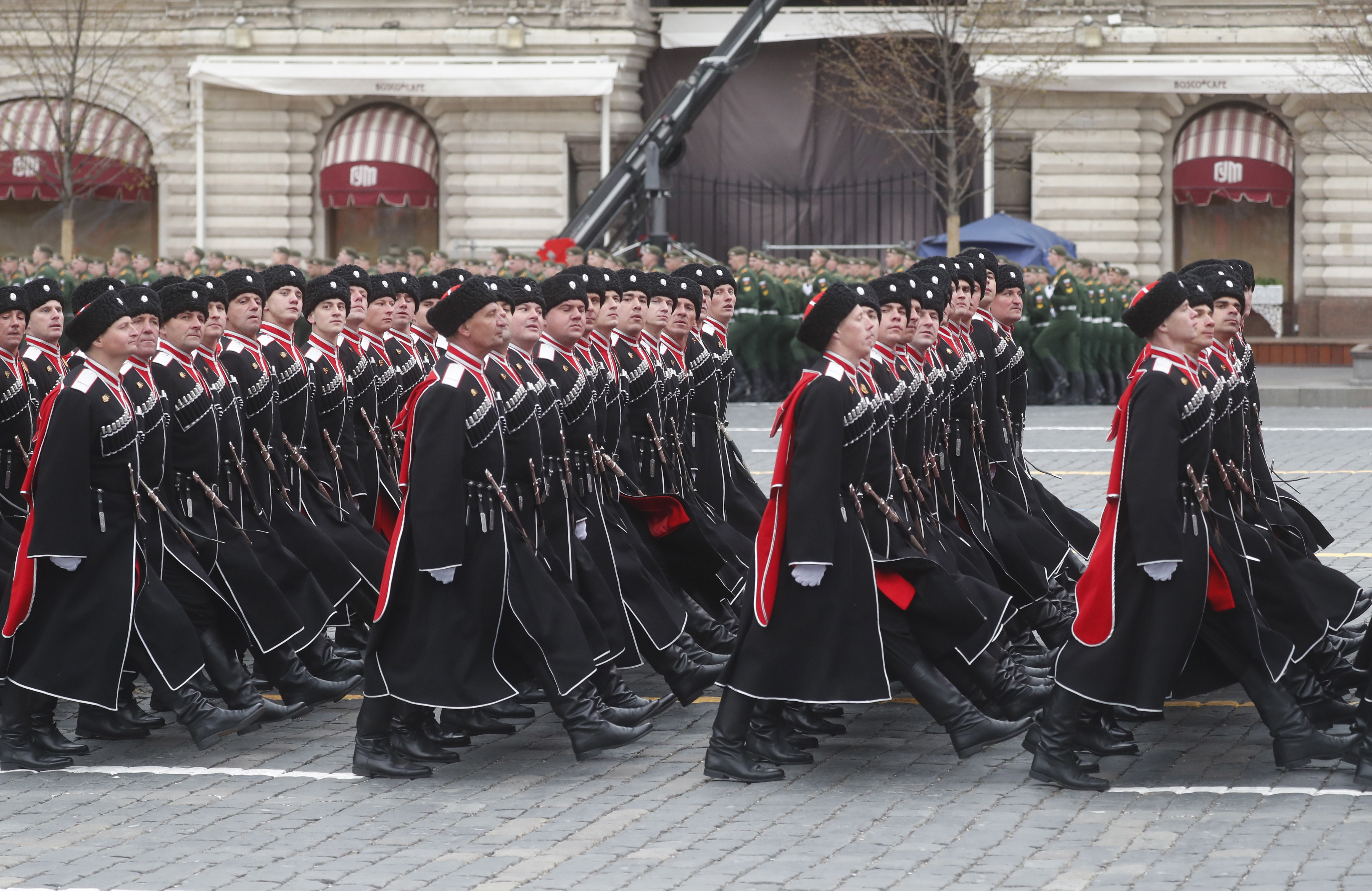 Victory Day Military parade in the Red Square in Moscow