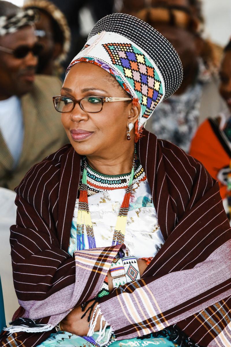 Fosta regină Mantfombi a poporulu Zulu, în 2013