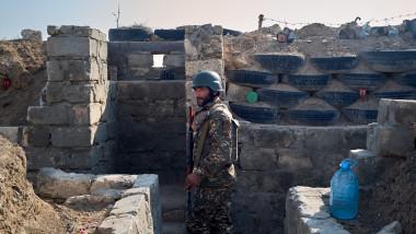 Soldat armean în Nagorno-Karabah