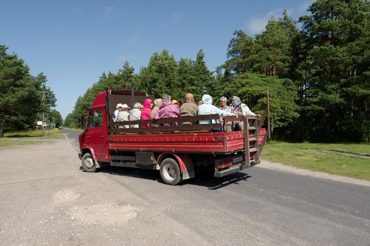 Tourist transport on the island Kihnu. Estonia 24th July, 2015