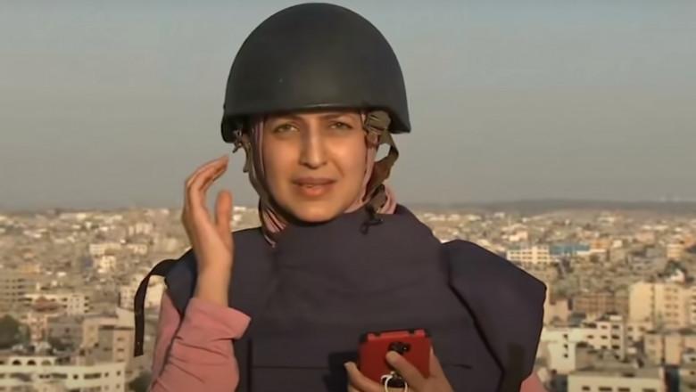 jurnalista surprinsa de tiruri in gaza