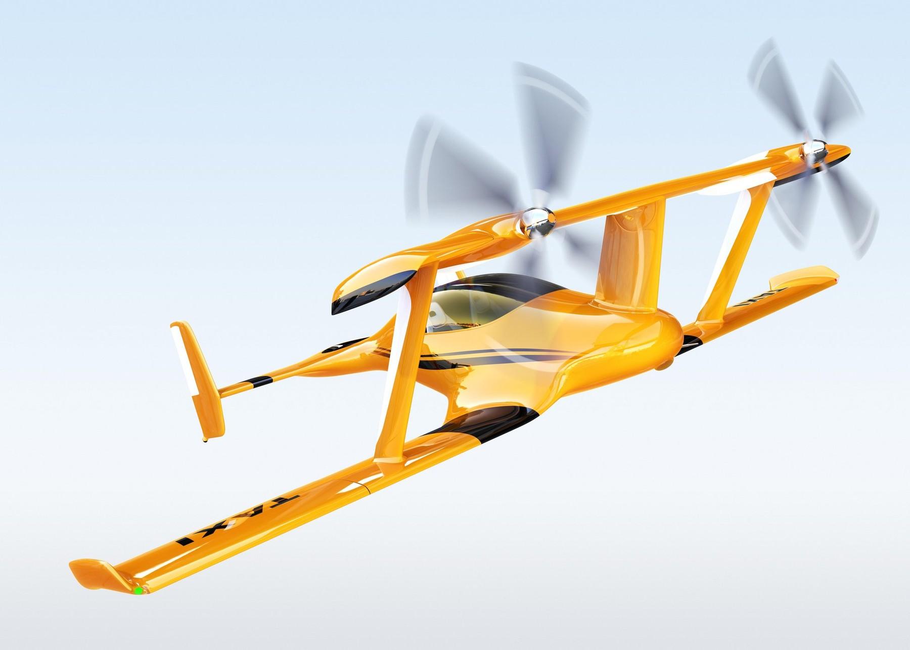 Primele taxiuri zburatoare ar putea aparea in Europa peste 3 ani