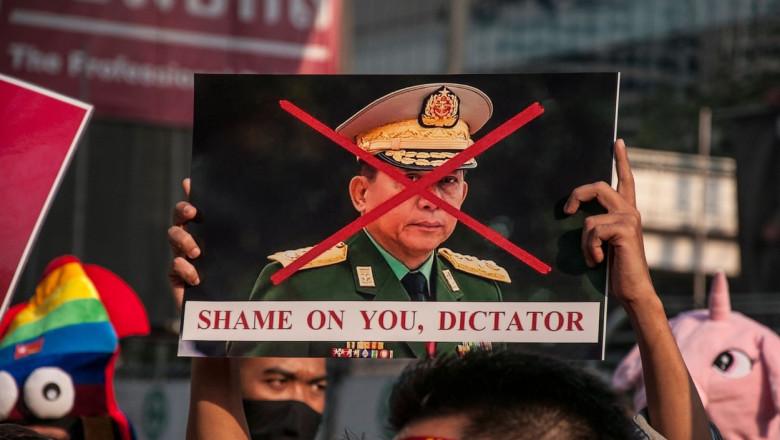 Juntă militară Myanmar proteste