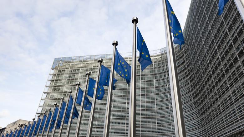 Imagine cu sediul Comisiei Europene.