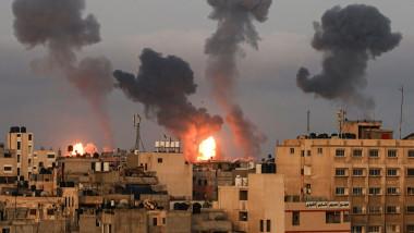 lovituri aeriene israel gaza