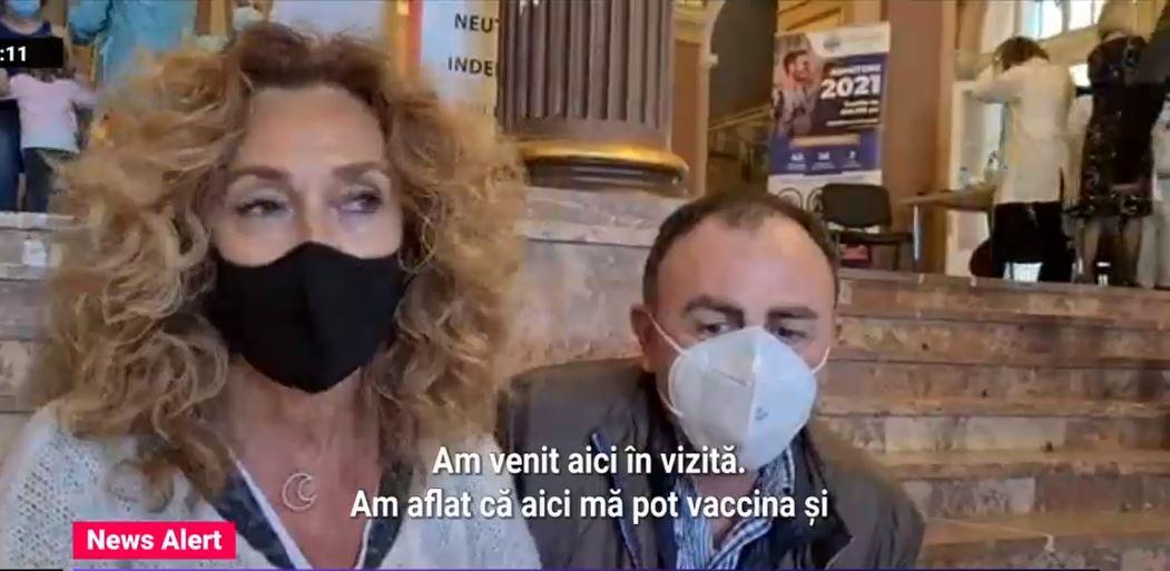 Tot mai multi straini si romani din Diaspora vin sa se vaccineze in tara. Medic: Zilnic imunizam oameni din Germania, Spania, Italia
