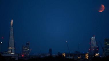 Partial Lunar Eclipse Over London