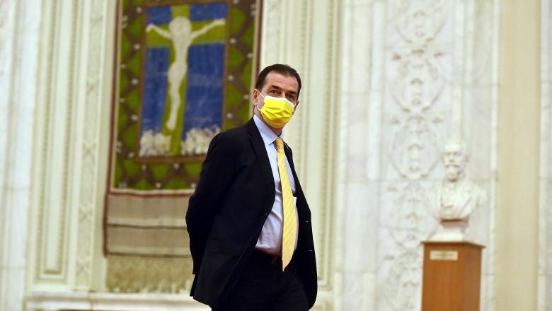 ludovic orban pe holul parlamentului