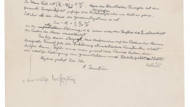 Scrisoare Albert Einstein care conţine ecuaţia E=mc2