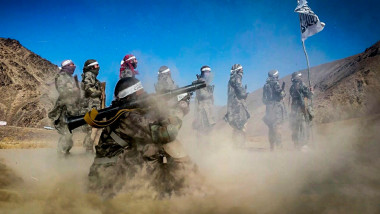 Taliban Fighters In A Training Camp In Faryab Province, Afghanistan