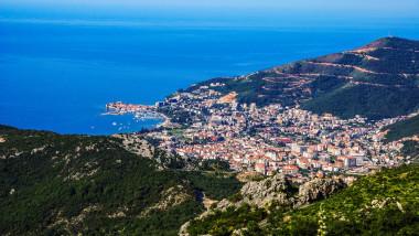 Aerial view of Budva, Montenegro