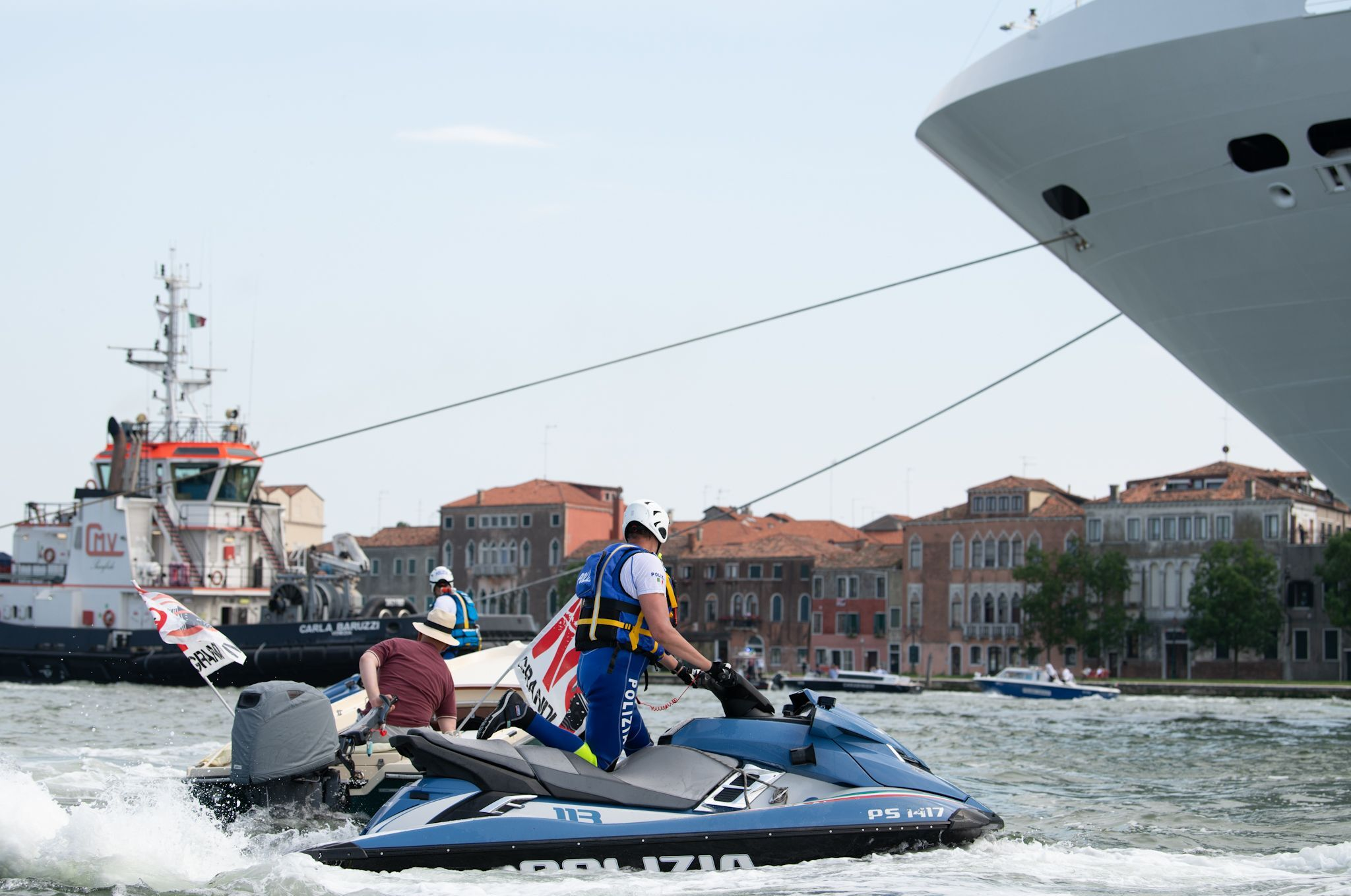Protest Against Giant Cruise Ships, Venice, Italy - 05 Jun 2021