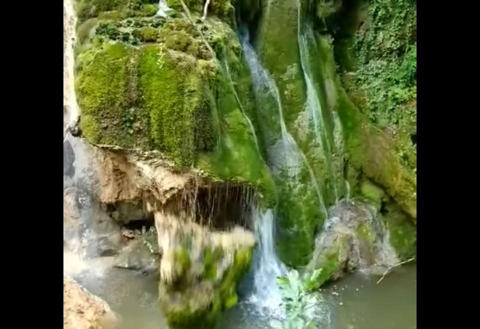 VIDEO. Momentul in care Cascada Bigar se prabuşeste