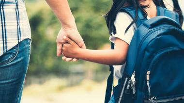 copil de mana cu un parinte