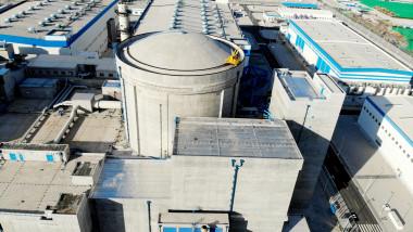 The bird view of Tianwan nuclear power plant in Lianyungang,Jiangsu,China on 18th May, 2021