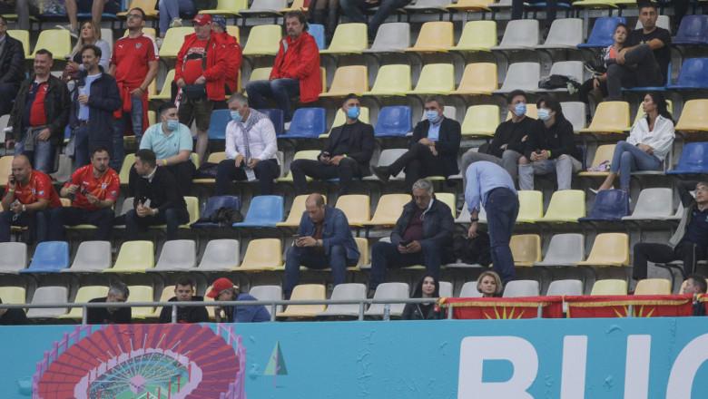 gheorghe hagi, dorinel munteanu, gica popescu tribuna arena nationala