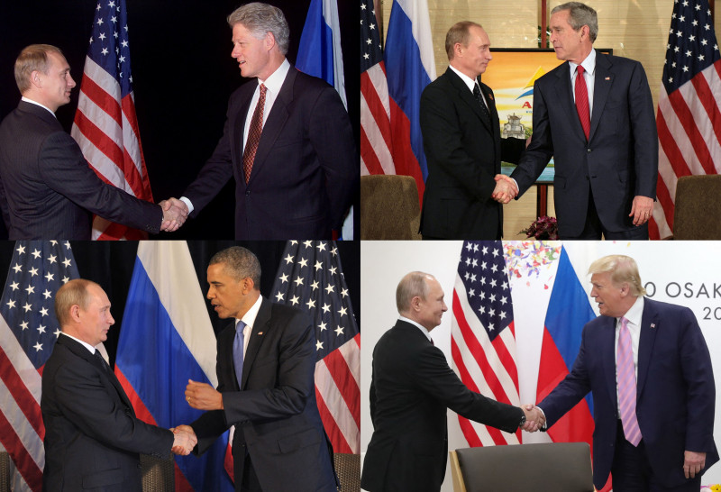 Președinții americani si Vladimir Putin