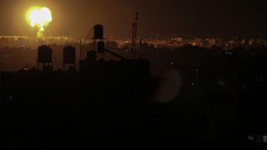 Raid aerian al Israelului în Gaza pe timp de noapte