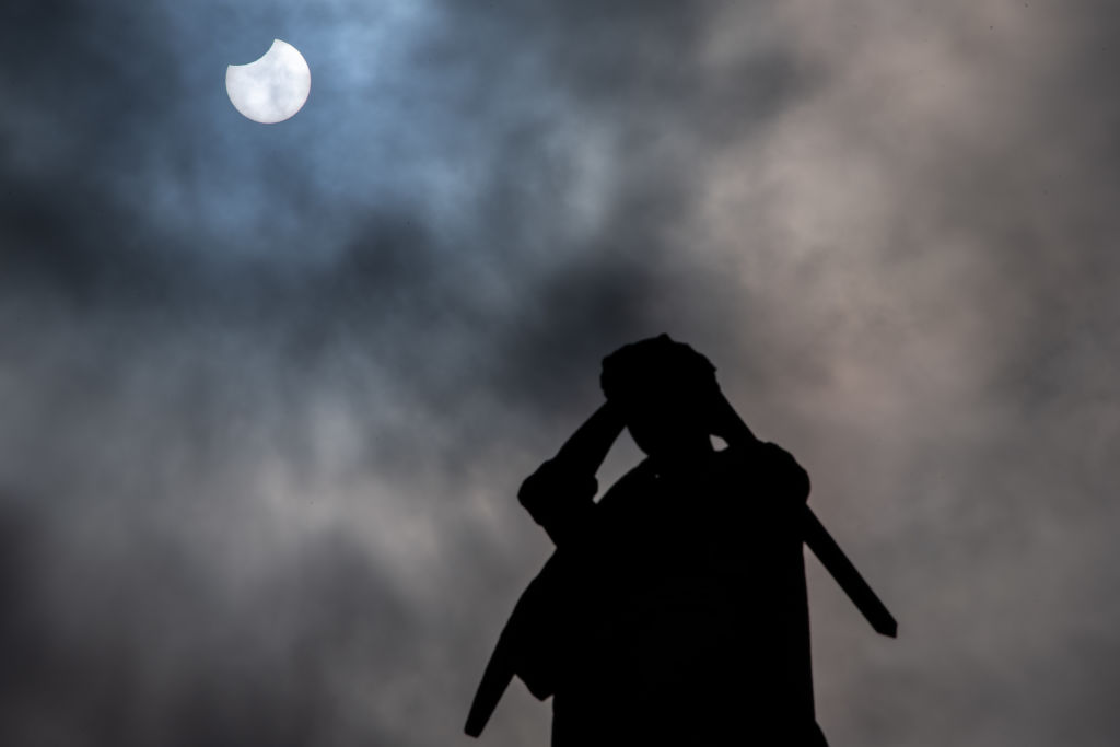 Partial Solar Eclipse Seen In The UK