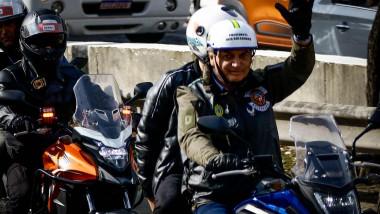 Președintele Bosonaro, la un miting al motocicliştilor în statul Sao Paulo.