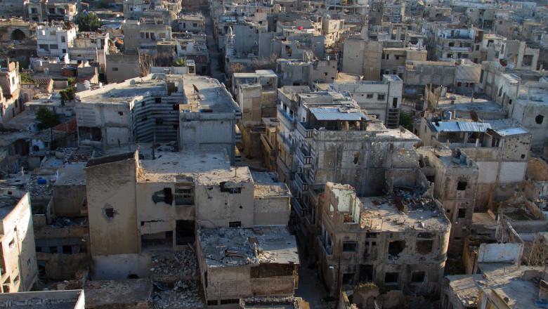 Oraș distrus de război în Siria