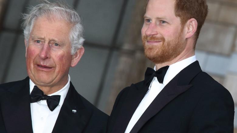 Prințul Charles și Prințul Harry