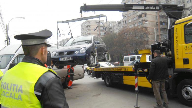 masina parcata neregulamentar platforma ridicare agerpres