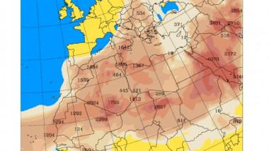 praf saharian harta europa africa de nord