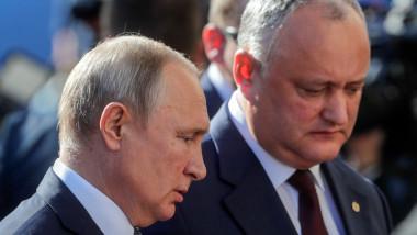 Igor Dodon și Vladimir Putin