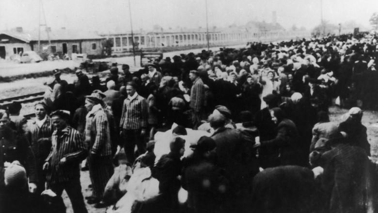 Evrei deportați la Auschwitz