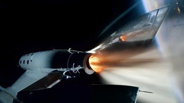 Vehicul spațial al companiei Virgin Galactic.