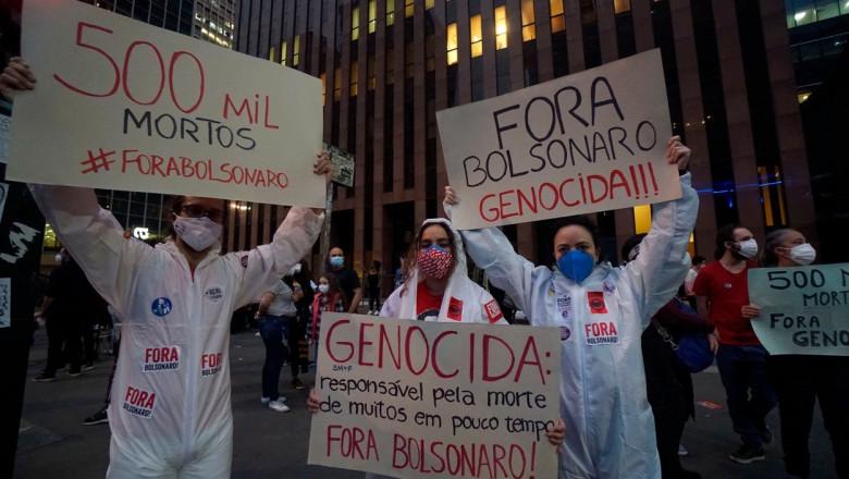 Protest against Jair Bolsonaro, Sao Paulo, Brazil - 19 Jun 2021