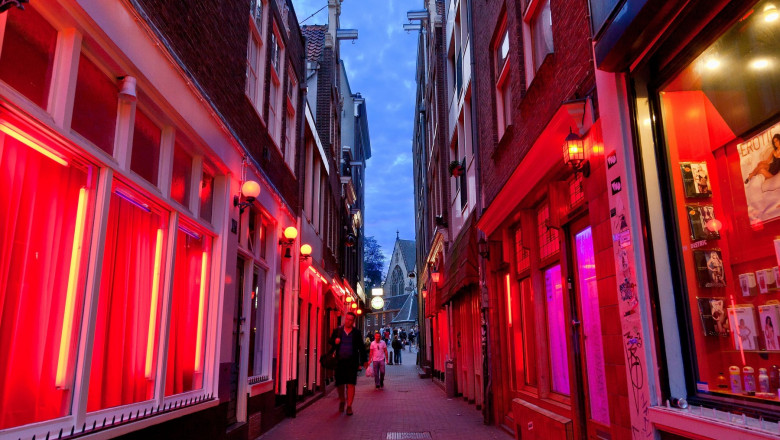 Europe, Netherlands, Amsterdam, The Red Light District