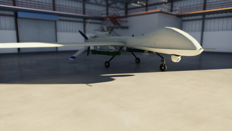 drona militara hangar