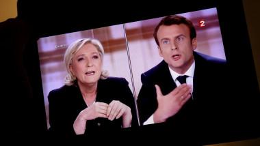 Emmanuel Macron și Marine Le Pen în dezbaterea electorală din 2017