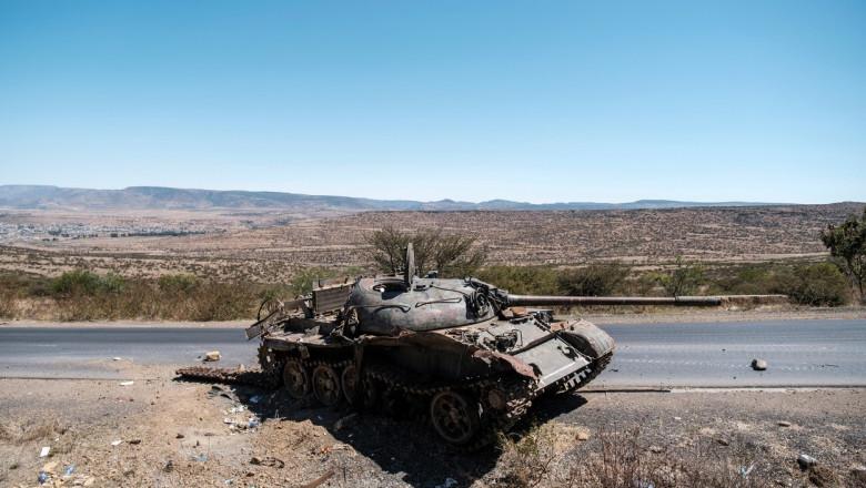 tanc avariat razboi civil etiopia