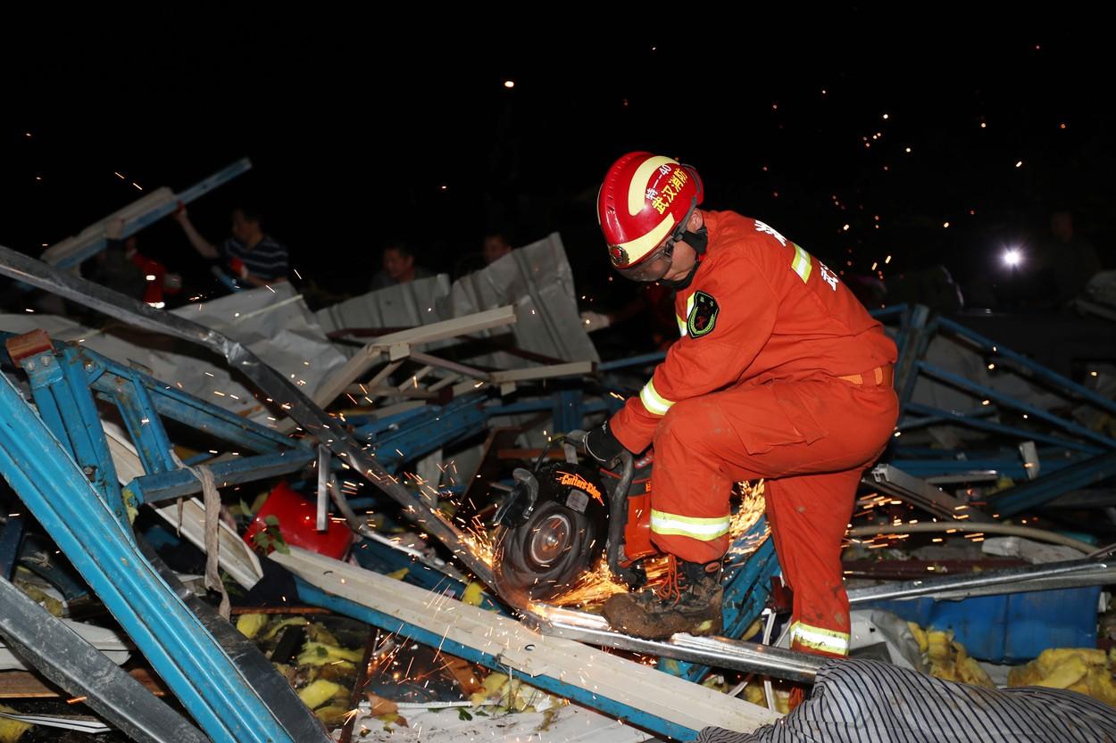 O clădire s-a prăbușit în China. 5 morți și mai mulți răniți
