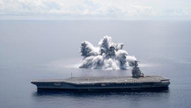 explozie testare capacitate lupta portavion uss gerald ford profimedia-0616869383