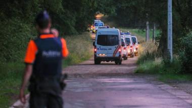 Poliția patrulează zona unde a fost găsit trupul lui Conings.