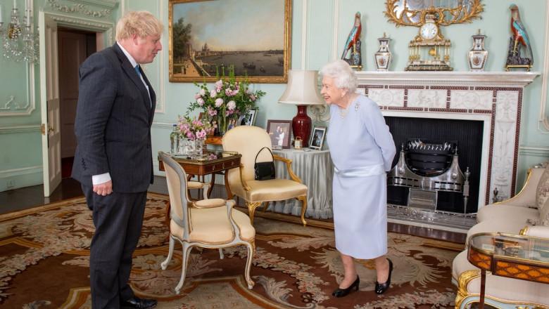 Queen Elizabeth II meeting PM