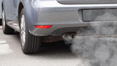 emisii de co2 de la esapamentul unei masini