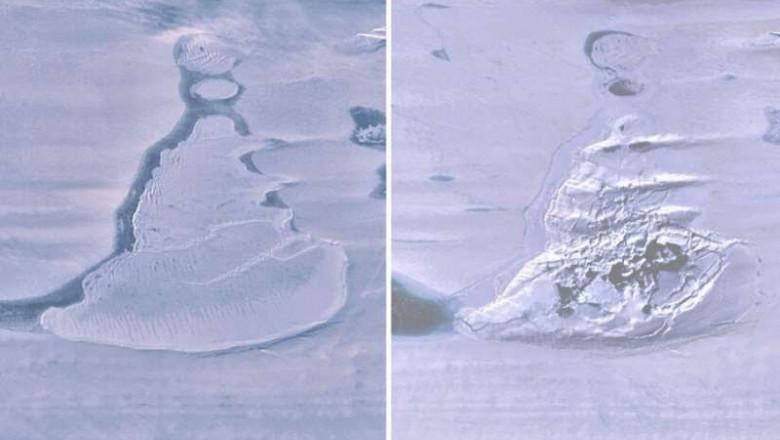 imagini din satelit lac antartic