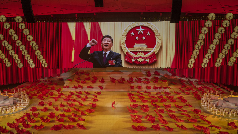 Partidul comunist aniversează 100 de ani într-o ceremonie spectaculoasă.