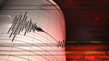 seismograf care inregistreaza un cutremur