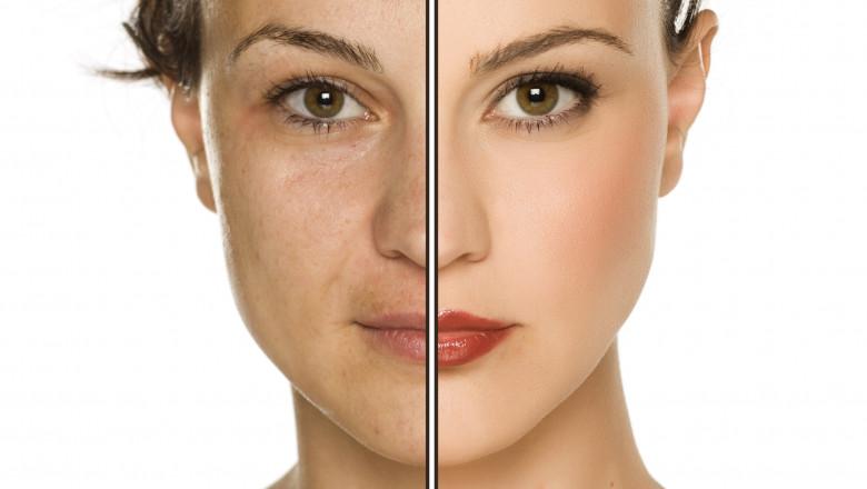 fata naturala vs fata editata in photoshop