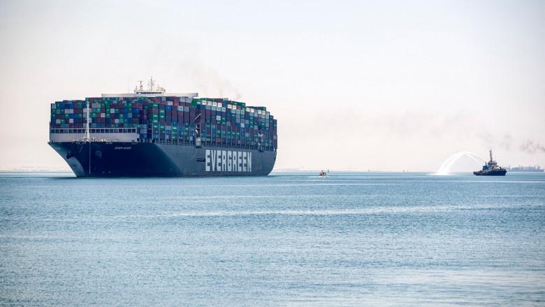 Nava Ever Given, cea care a blocat în martie Canalul Suez, a părăsit Egiptul.