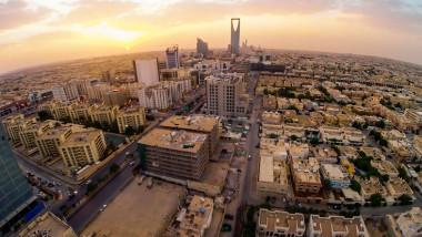 Riyadh, Saudi Arabia Aerial view of Riyadh downtown