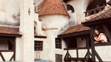 Garbine Muguruza la Castelul Bran.